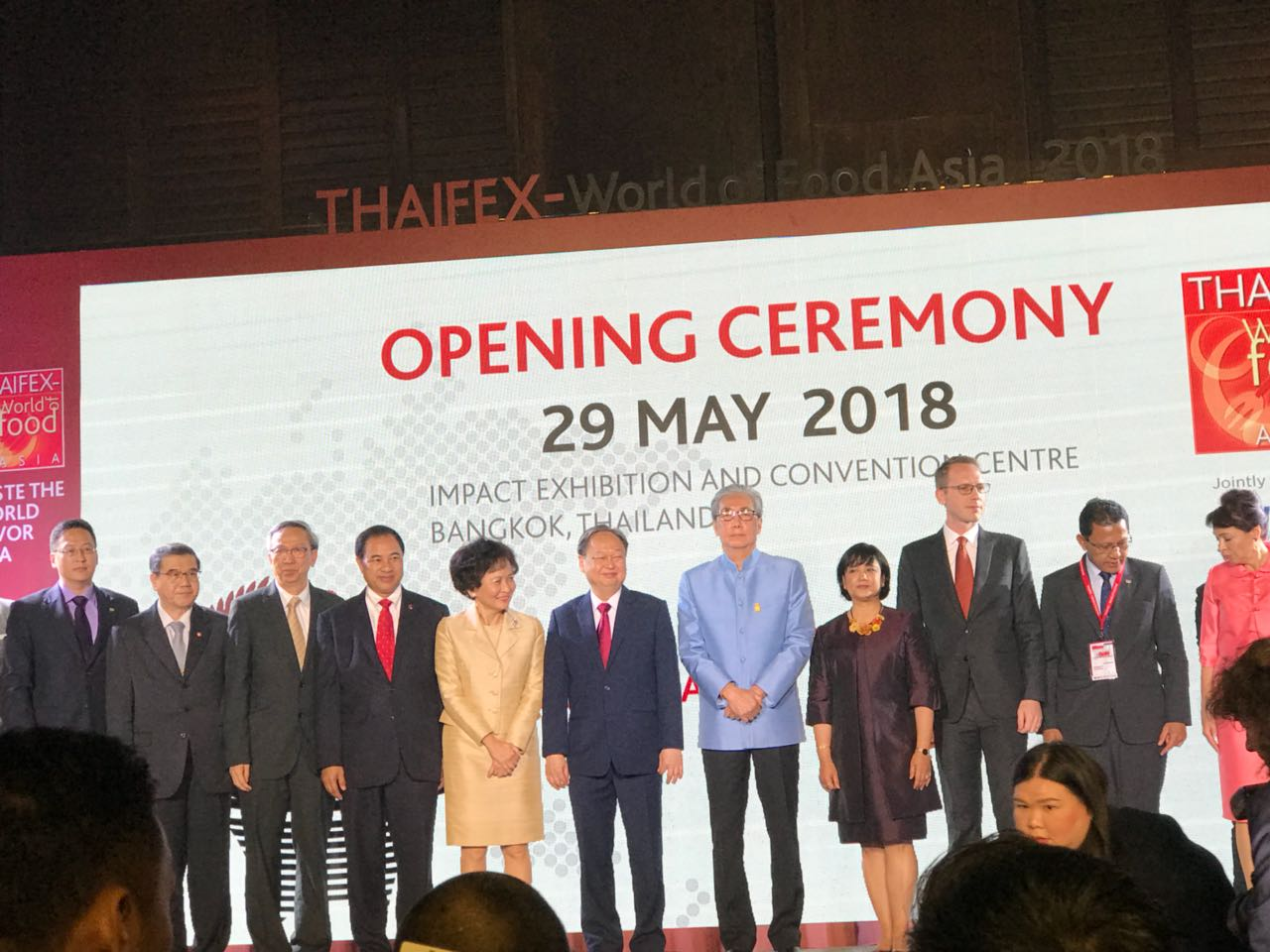 Mr. Somkid Jatusripitak (Deputy Prime Minister of the Kingdom of Thailand) opened Thaifex 2018- International Trade Exhibition for Food & Beverages, Food Technology and Retail & Franchise in Asia