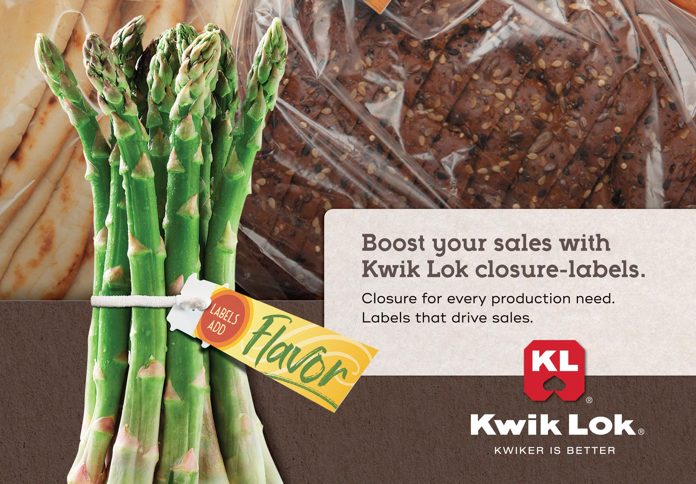 Boost your sales with Kwik-Lok closure - labels