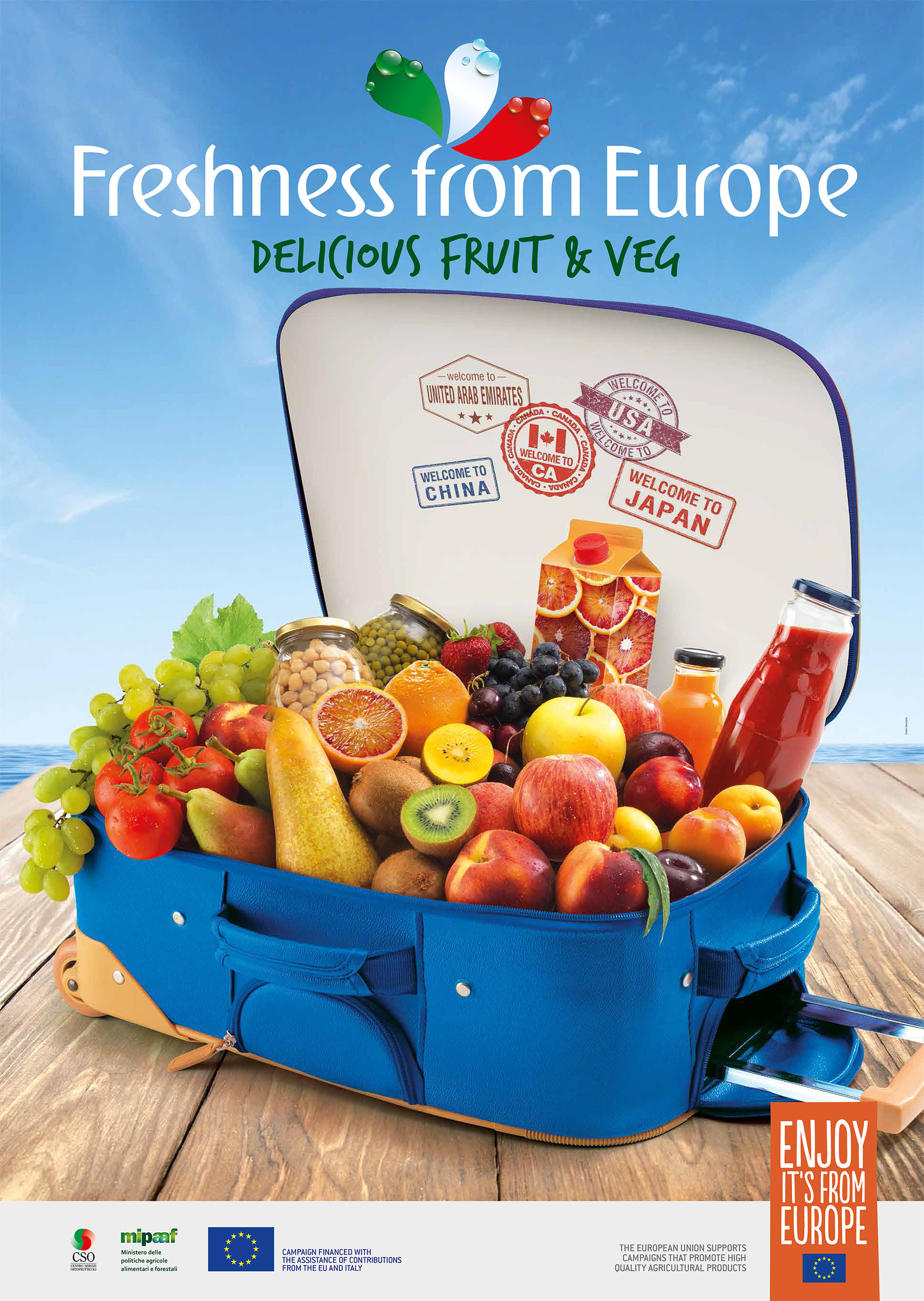 "THREE YEARS OF WORLDWIDE MARKETING WITH THE EUROPEAN ""FRESHNESS FROM EUROPE"" PROJECT BY CSO ITALY"