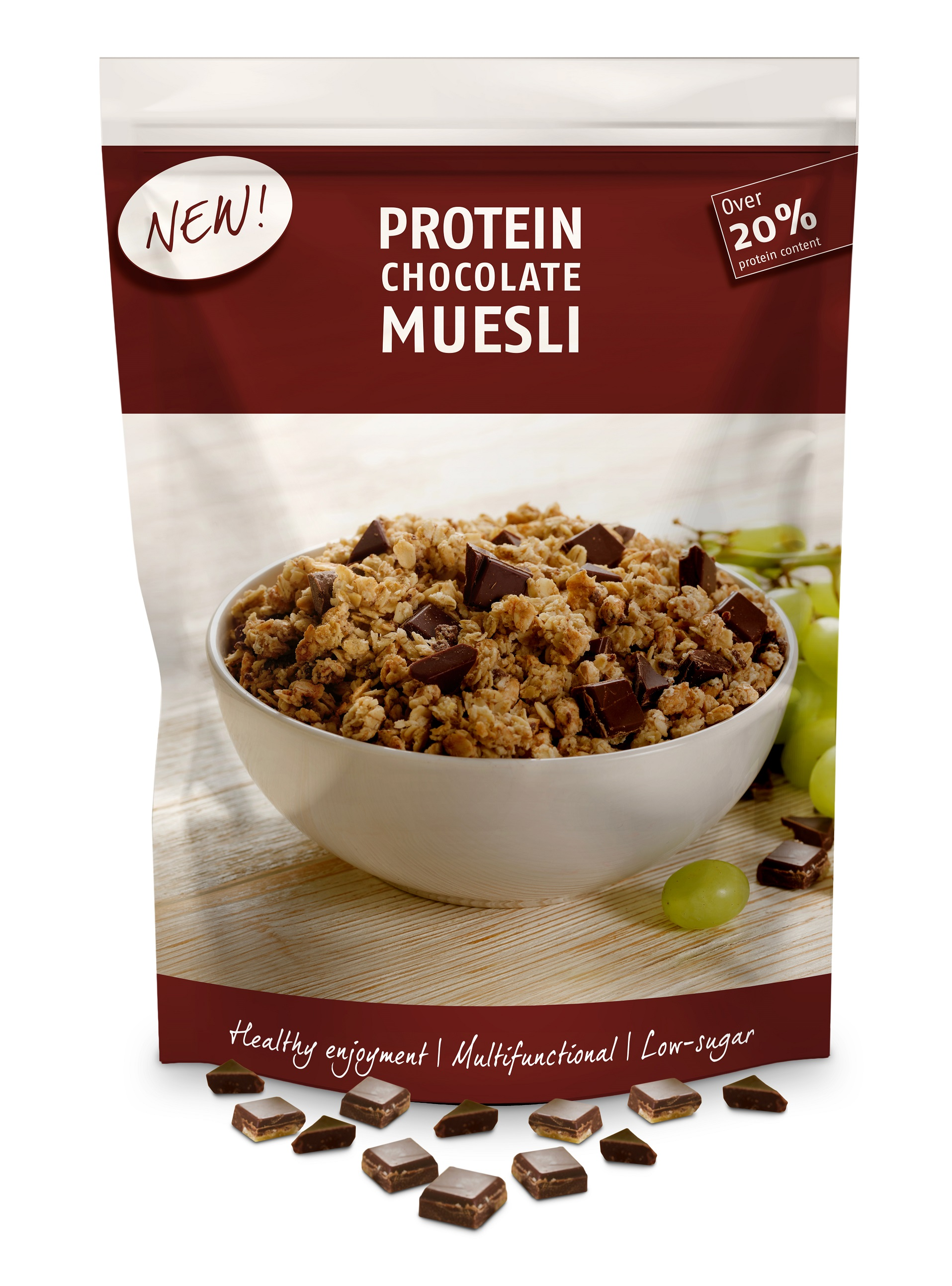 Protein-enriched chocolate and compounds increase the incentive to buy  HERZA Schokolade combines the protein trend with enjoyment