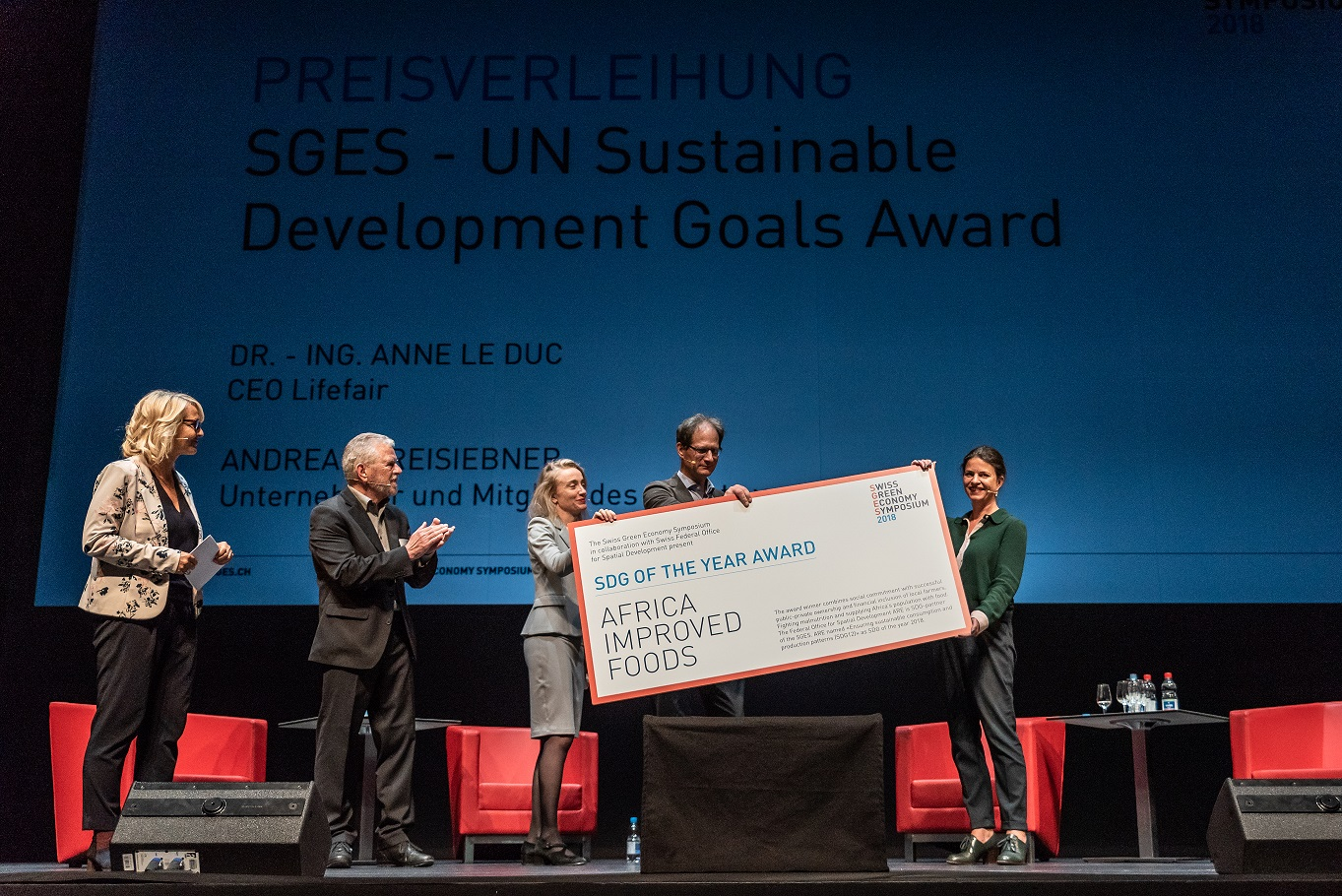 Africa Improved Foods receives first SDG Award for sustainable consumption