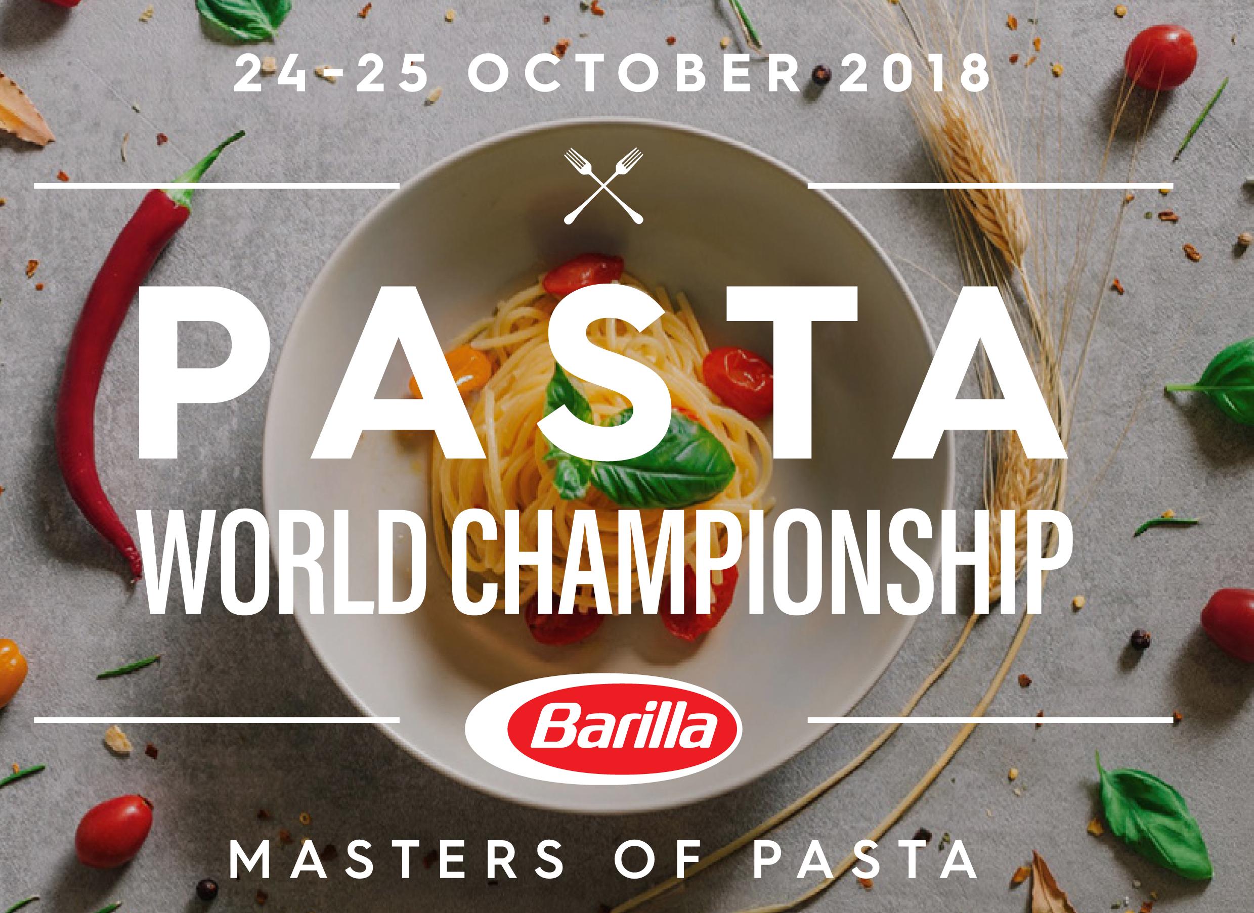 Pasta World Championship 2018- October 24-25, 2018