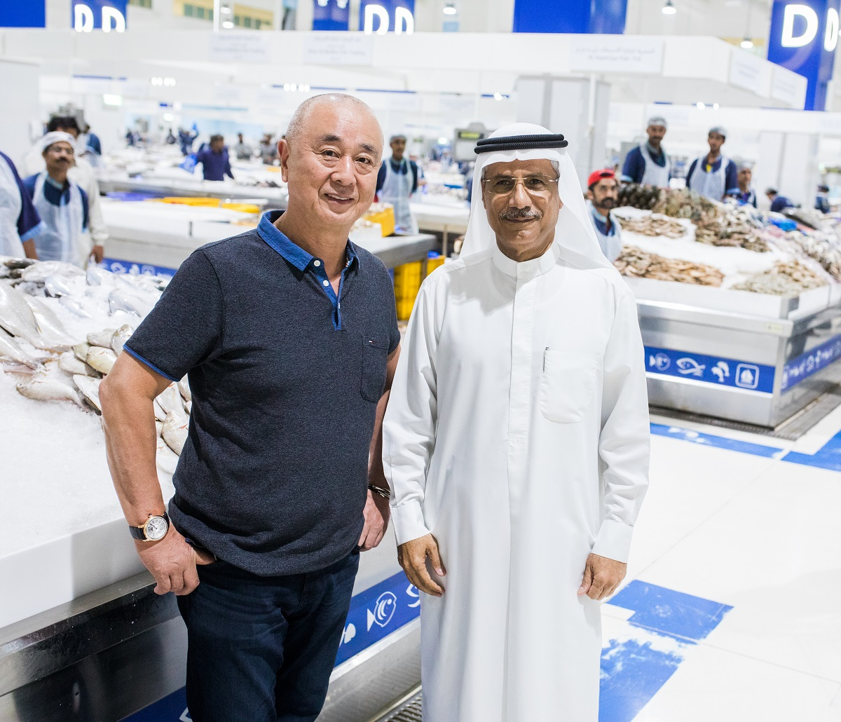 World-renowned Japanese celebrity chef and restauranteur 'Chef Nobu' visits Waterfront Market – Deira on a surprise visit
