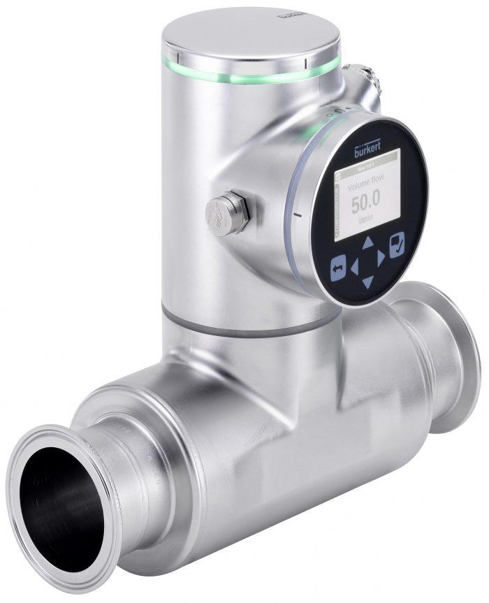 Flowmeter for the precise detection of media changeover